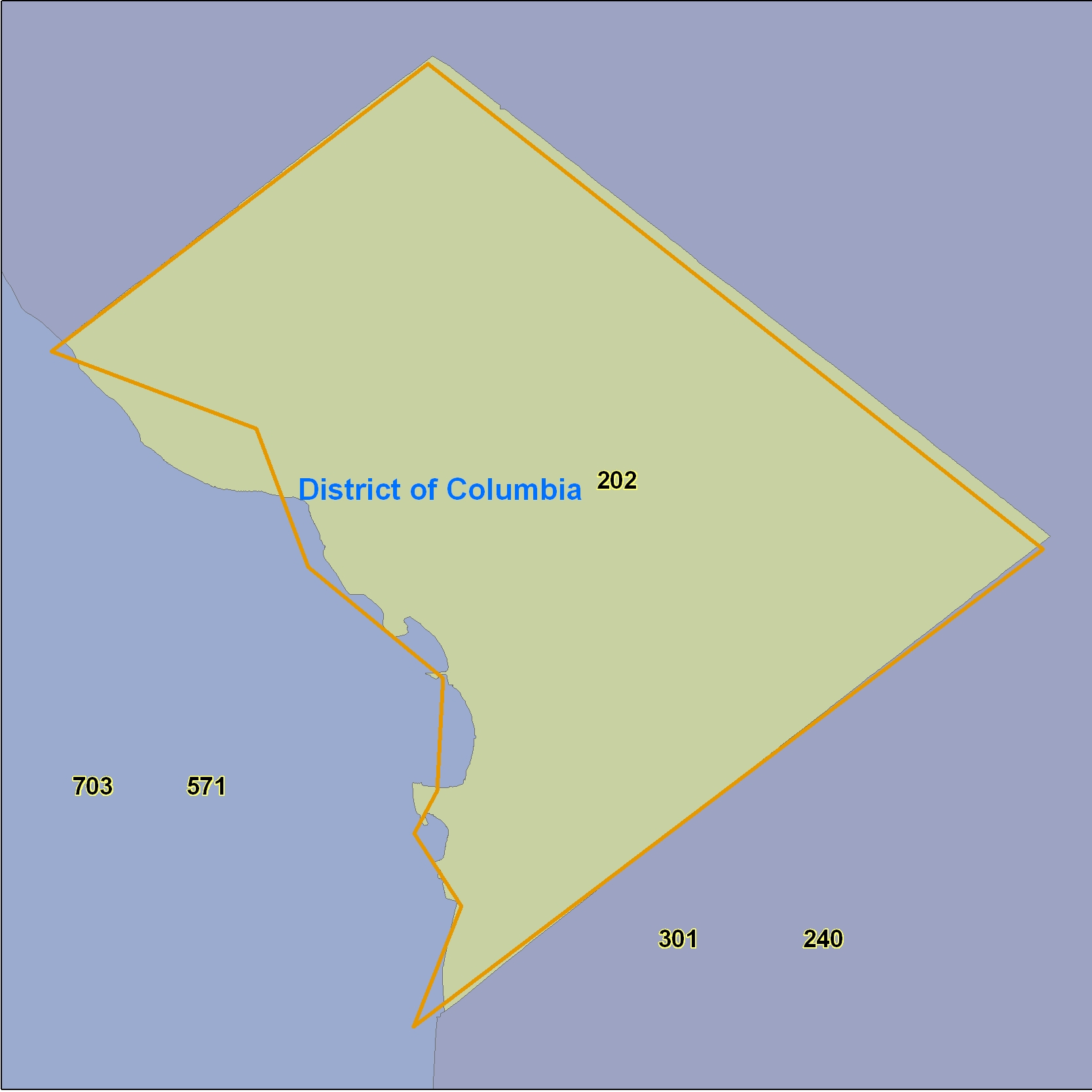 District Of Columbia Area Code Maps District Of Columbia - 703 area code