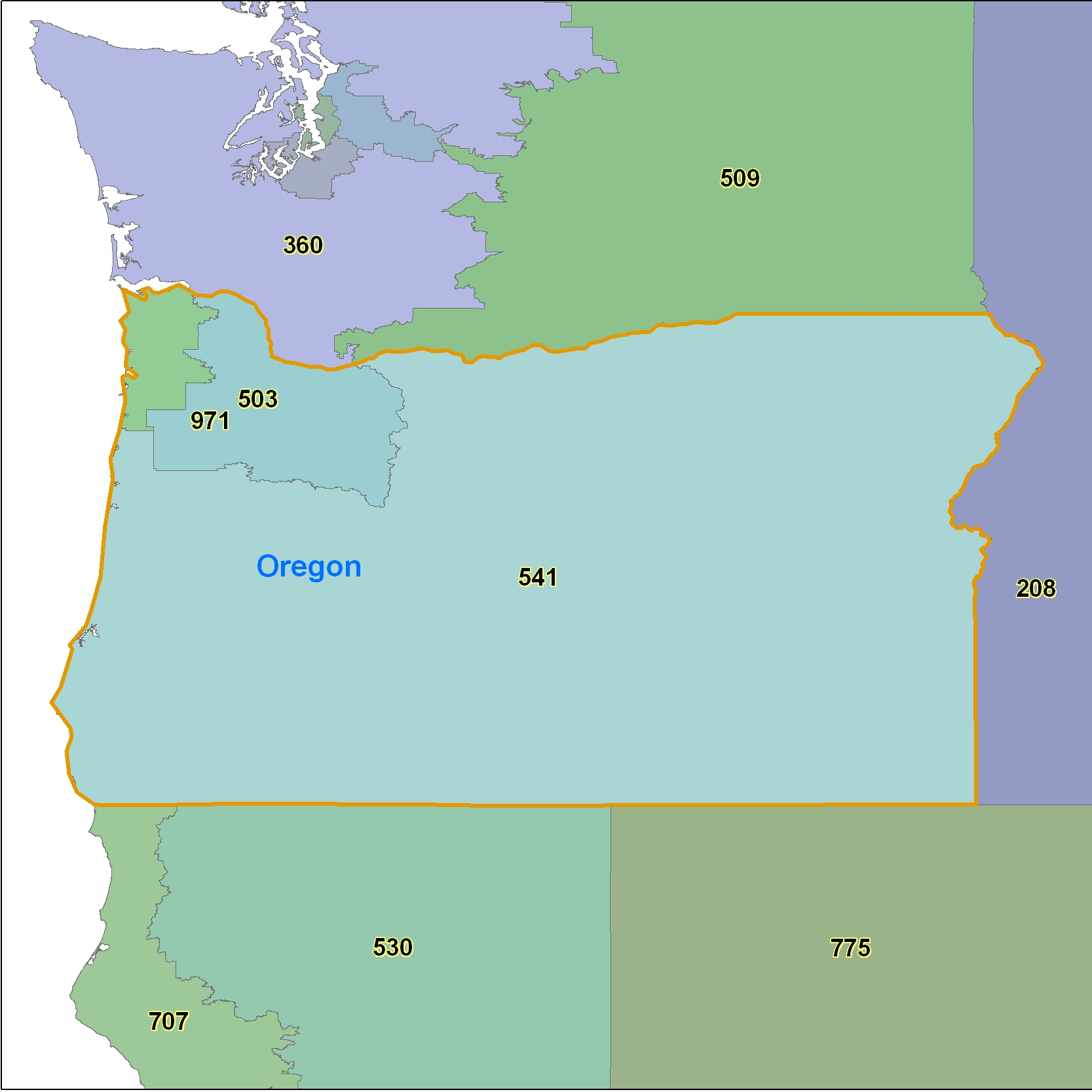 List Of Synonyms And Antonyms Of The Word Oregon Area Code