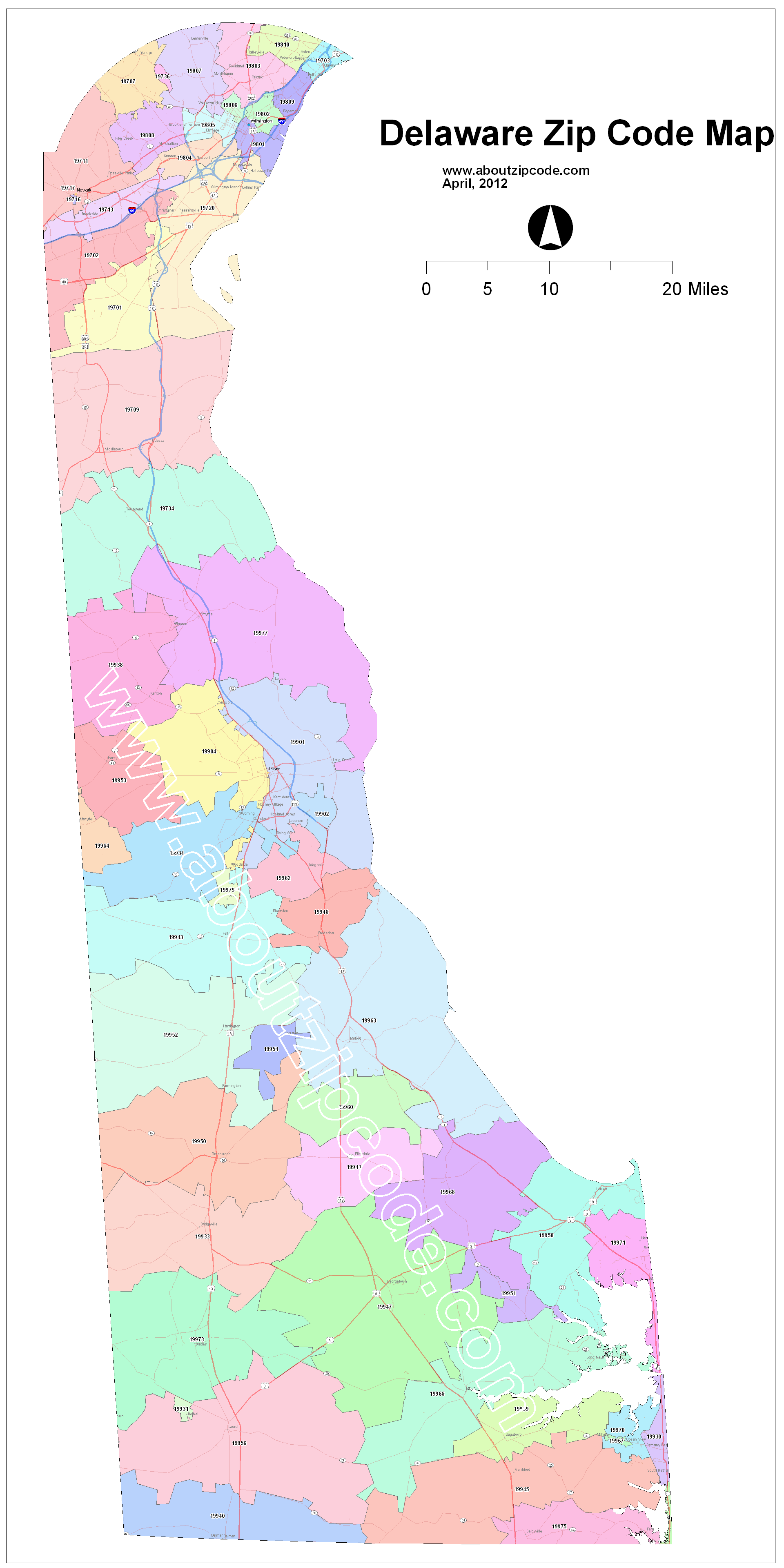 Delaware Zip Code Maps Free Delaware Zip Code Maps - New hampshire zip code map