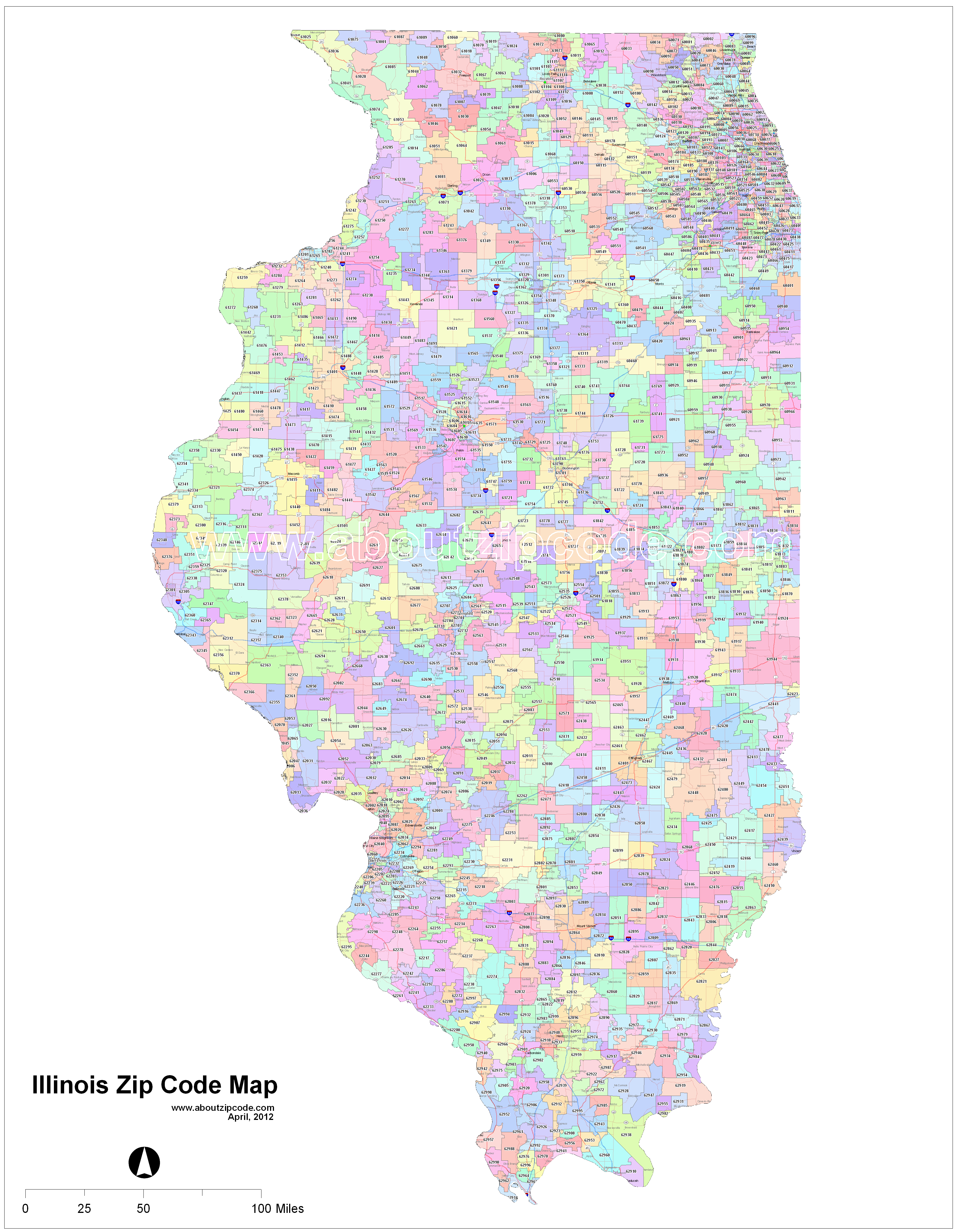 illinois zip code maps  free illinois zip code maps - illinois (il) zip code map
