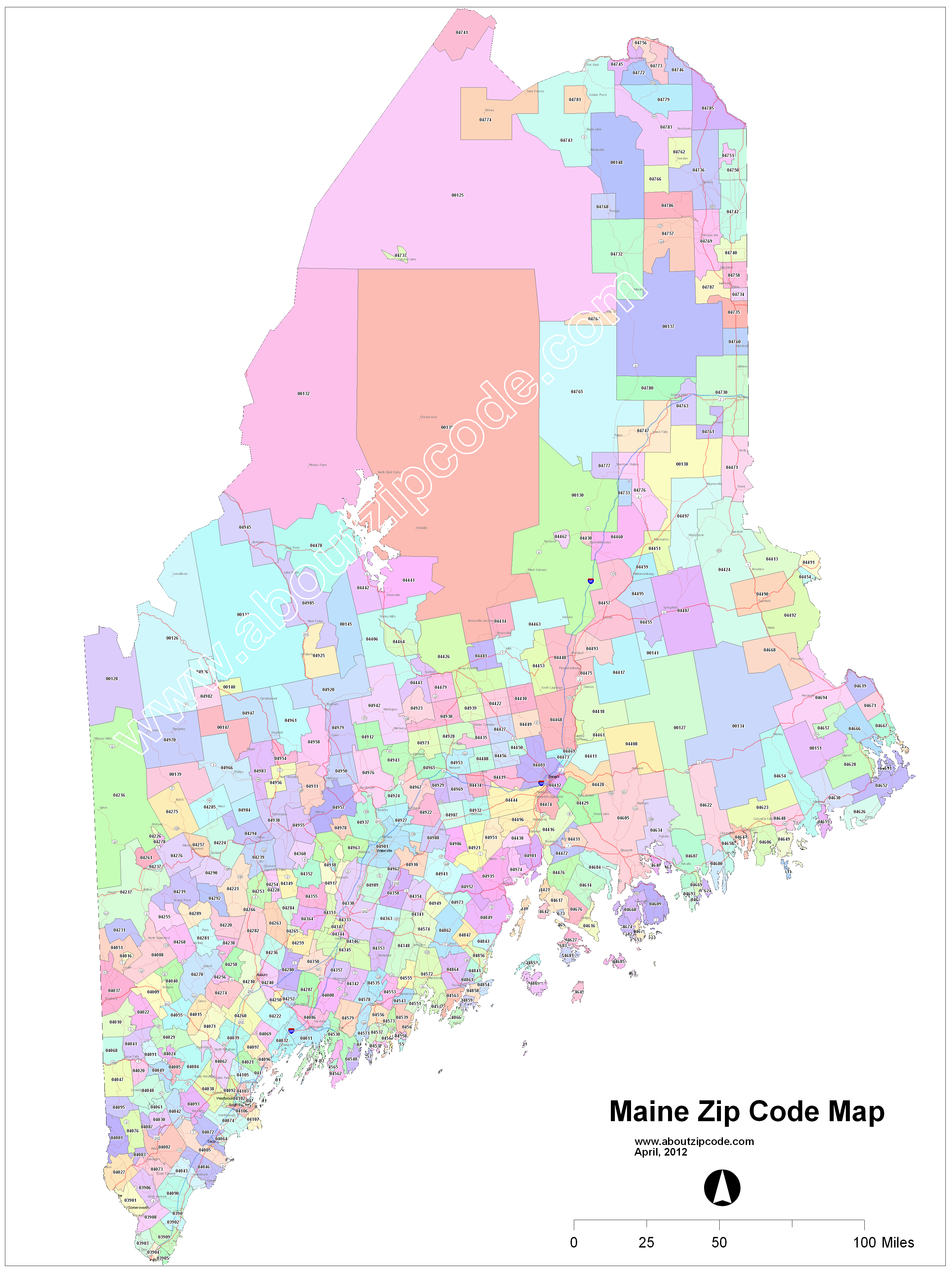 Maine Zip Code Maps Free Maine Zip Code Maps