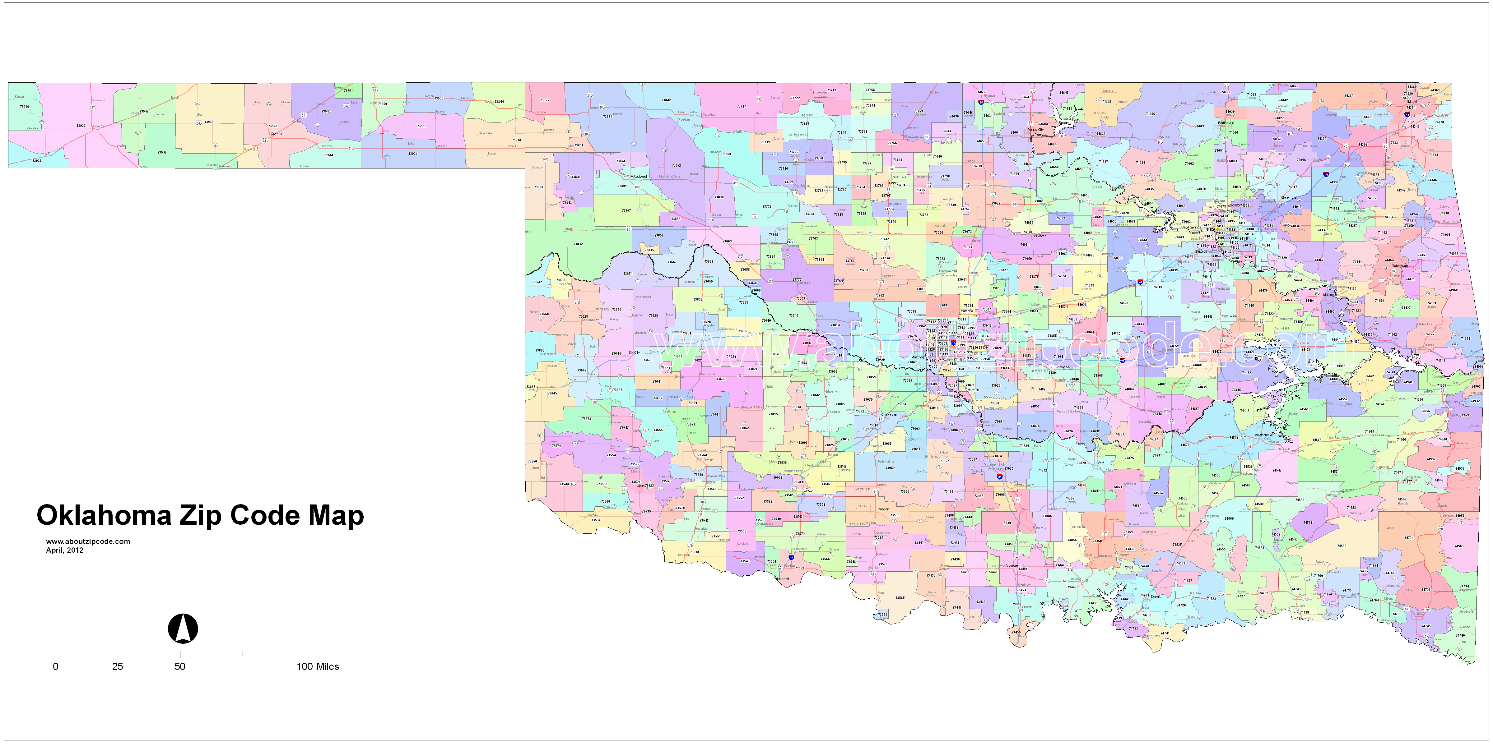 Oklahoma City Zip Codes Map Free Car Tuning